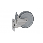 CASTOR PIVOTING PLATE WITH BRAKE