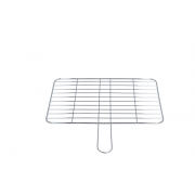 CHROMED GRID WITH HANDLE 343X220 MM